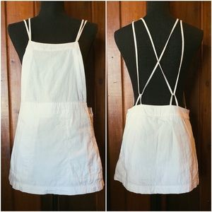 Free People White Overall Dress